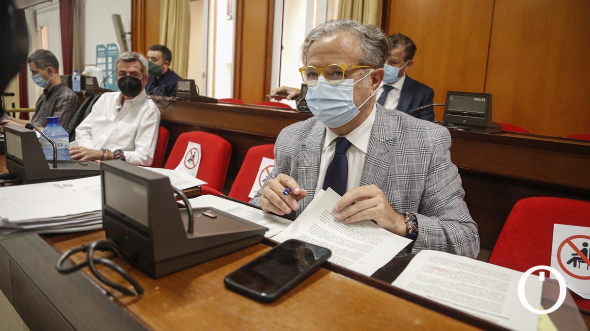 Salvador Fuentes, en el último Pleno celebrado