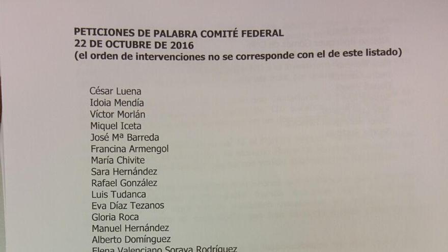 DIRECTO | Comité Federal del PSOE