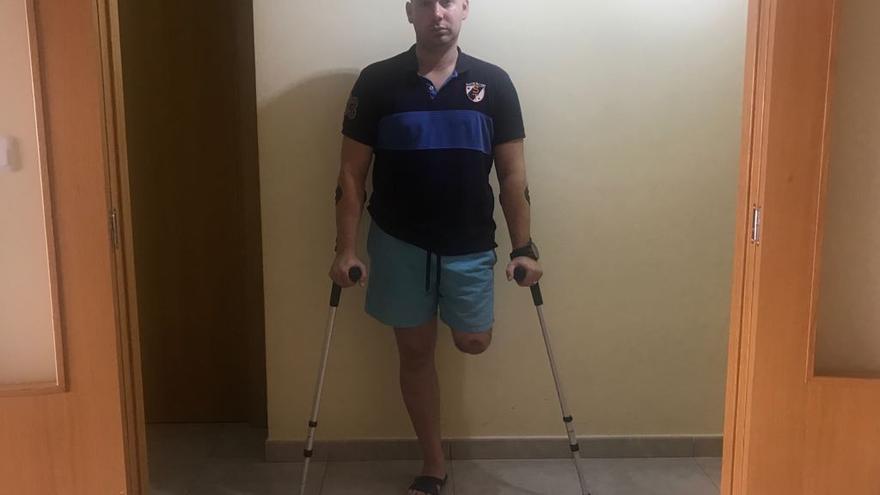 A Juan Antonio Sepulcre le amputaron una piernahace ocho años