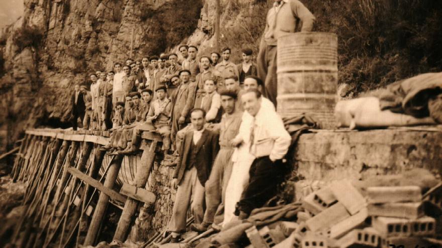 Trabajos de construcción de la central hidroeléctrica de La Malva. Foto: EDP
