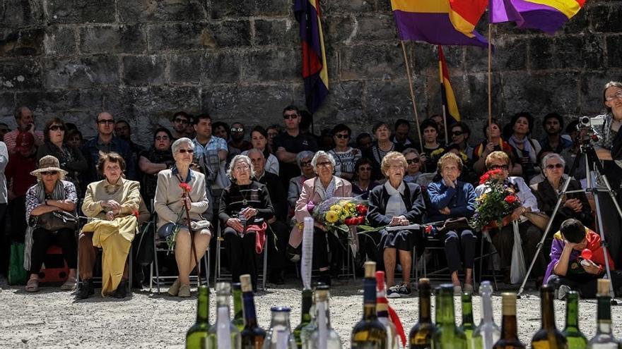 Homenaje a los caídos en el Fuerte de San Cristóbal