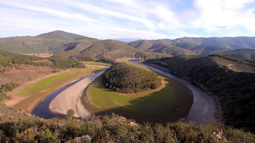El Meandro Melero está situado en la Comarca de Las Hurdes / turismoextremadura.com