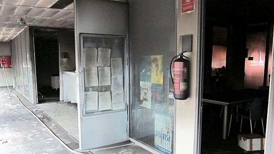 Los efectos del fuego en las dependencias de la Ciudad de la Justicia de Valencia