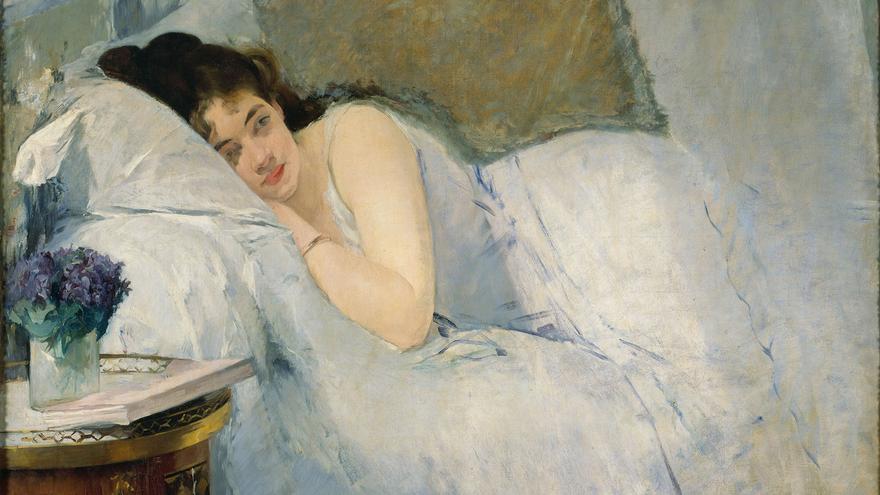 Eva Gonzalès Muchacha al despertar [Erwachendes Mädchen], 1877–78 Óleo sobre lienzo