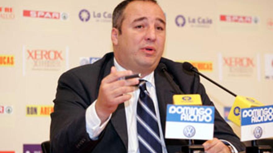 Miguel Ángel Ramírez, presidente de la UD Las Palmas. (QUIQUE CURBELO)