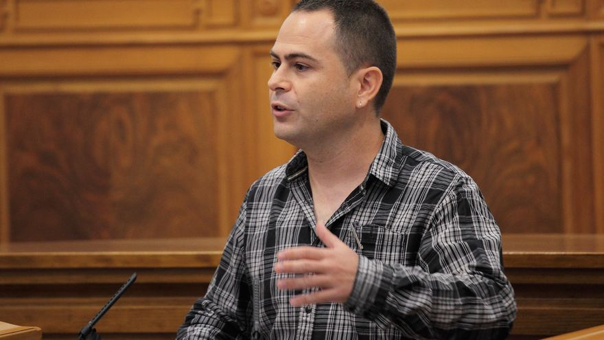 David Llorente, portavoz de Podemos en las Cortes de Castilla-La Mancha