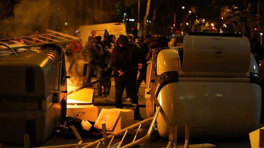 La manifestación de los CDR termina con incidentes en el centro de Barcelona