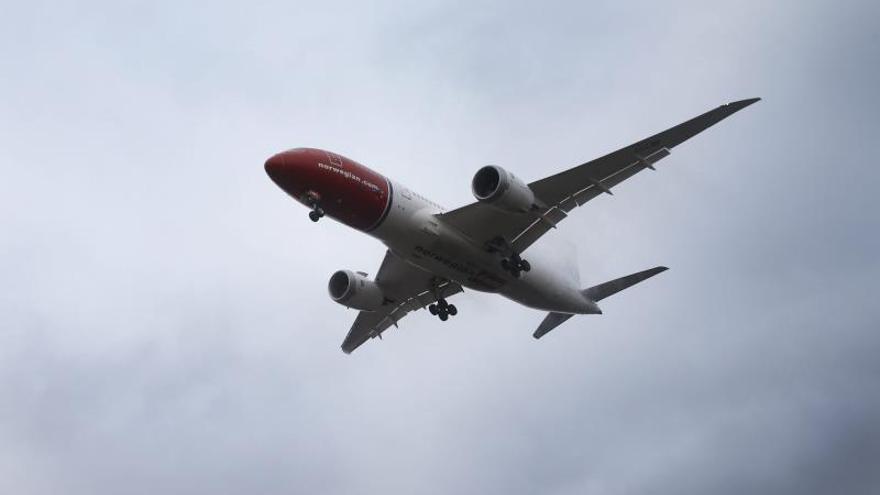 Un avión de la aerolínea noruega Norwegian.