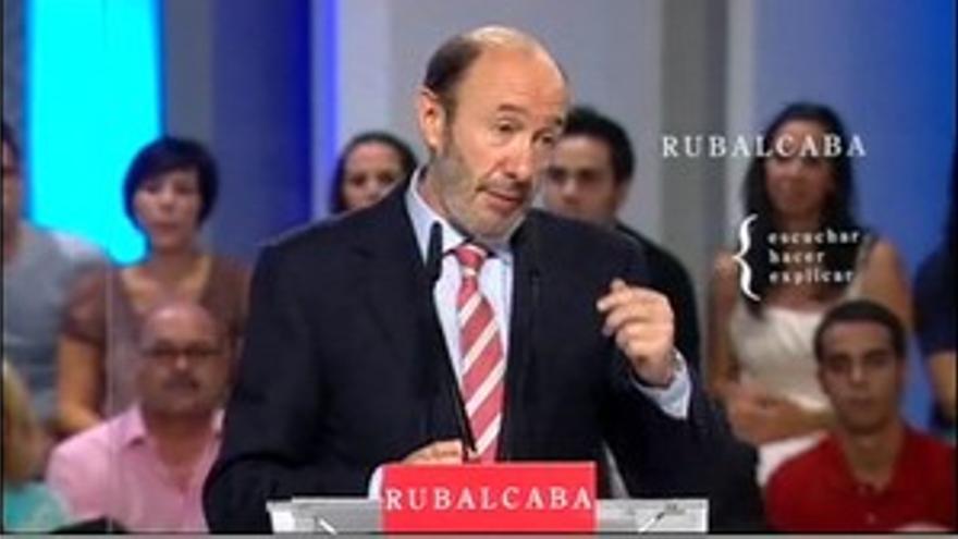Alfredo Pérez Rubalcaba, en su discurso de este sábado.