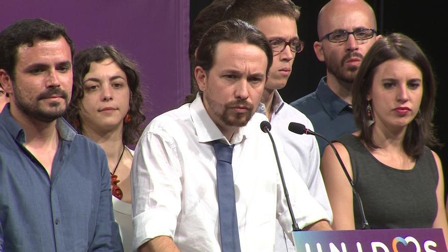 Los principales rostros de Unidos Podemos comparecen tras el 26J