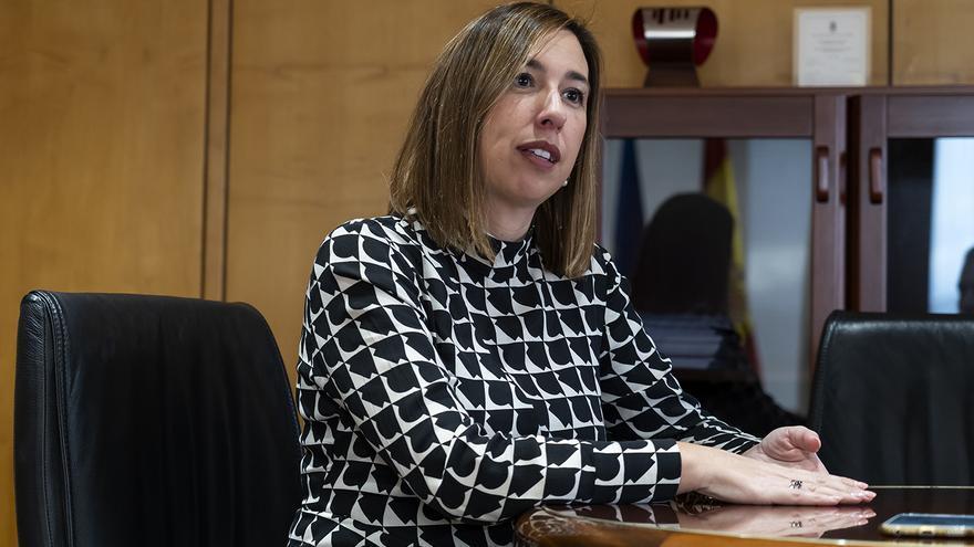 La consejera de Economía y Hacienda de Cantabria, María Sánchez. | JOAQUÍN GÓMEZ SASTRE