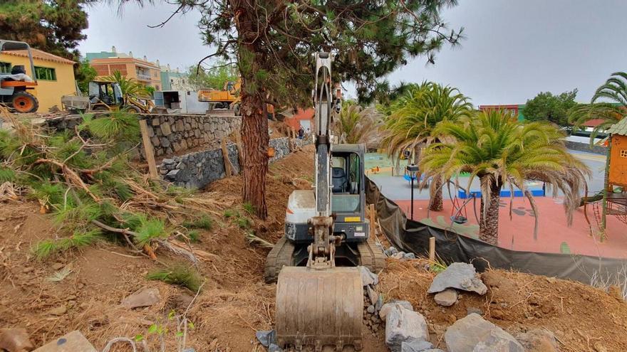 Avanzan las obras de la tercera y última fase del Parque Barbarroja de Tijarafe