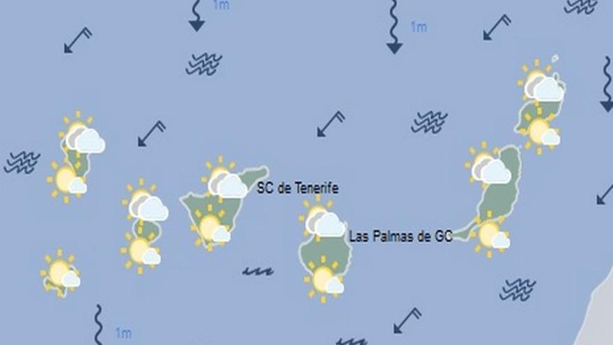 Mapa de la previsión de la Aemet para el martes 23 de agosto