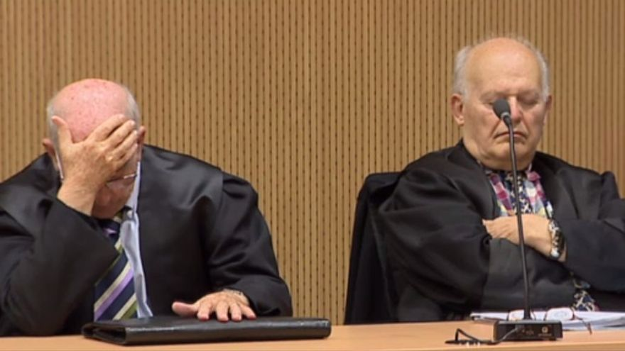 Eligio Hernández, este miércoles, en el juicio por el caso Paraíso. (CAPTURA DE TVE)