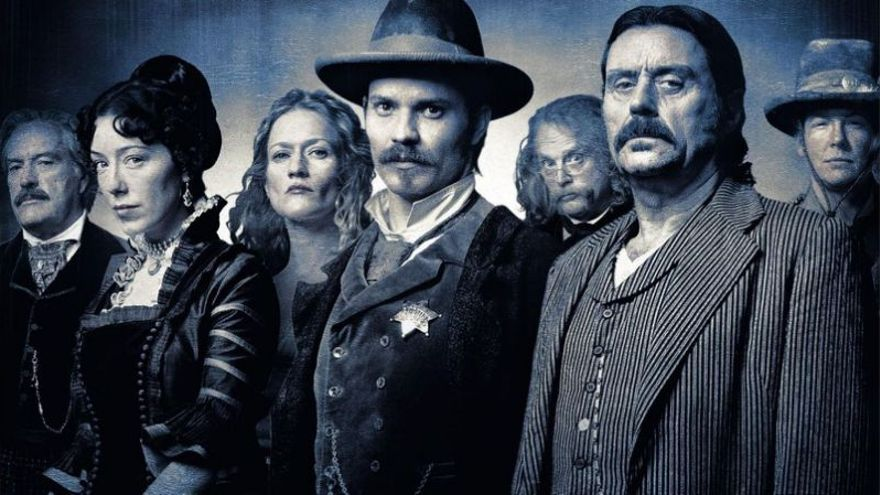 Los protagonistas de 'Deadwood'