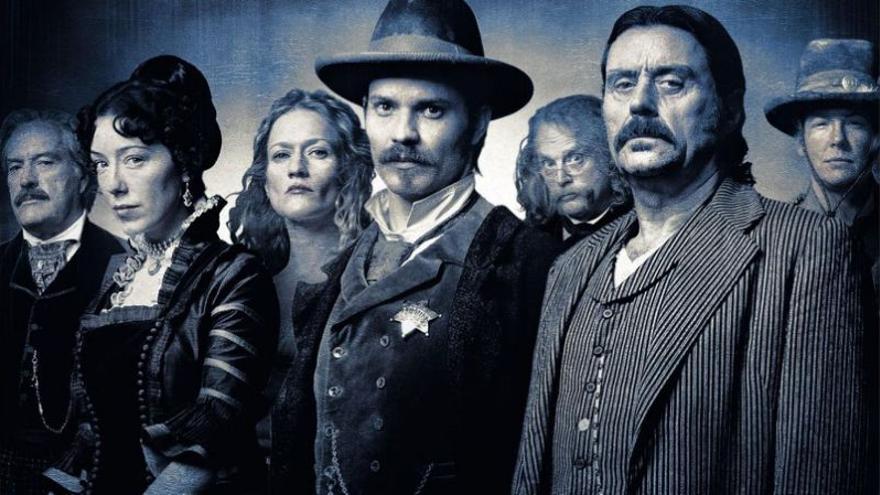 Los protagonistas de 'Deadwood'