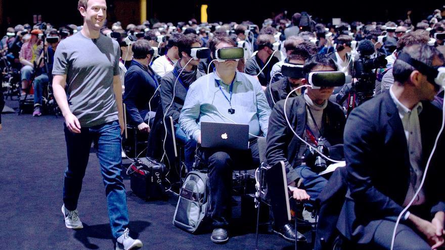 Mark Zuckerberg, CEO de Facebook, durante el Mobile World Congress 2016