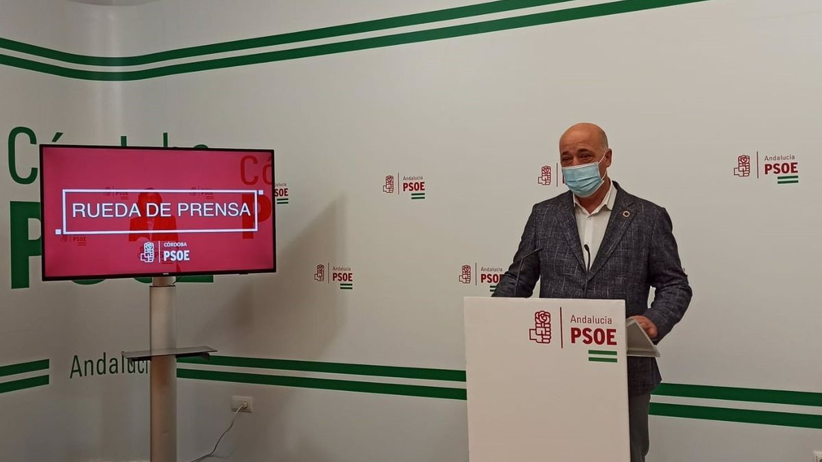 El secretario general del PSOE de Córdoba, Antonio Ruiz.