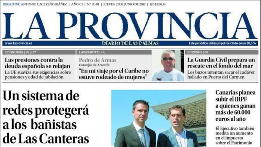 De las portadas del día (21/06/2012) #4