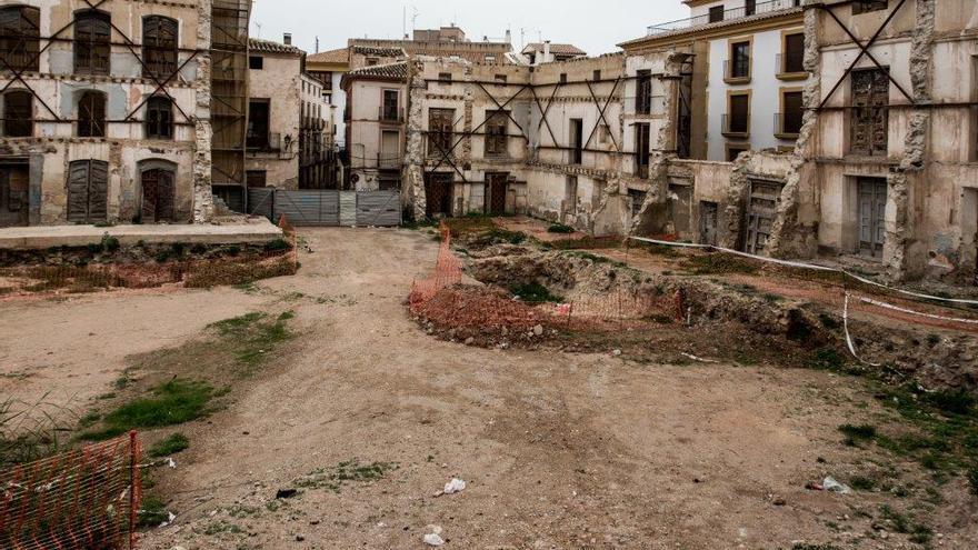 Edificios del centro histórico de Lorca (Murcia), todavía sin reconstruir tras el terremoto de 2011 / CARLOS TRENOR