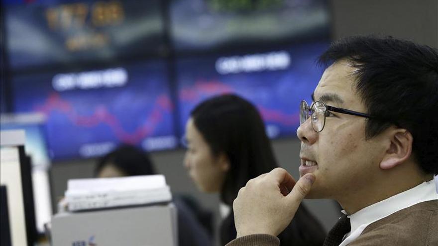 El Kospi surcoreano sube un 0,41 por ciento hasta los 2.043,61 puntos