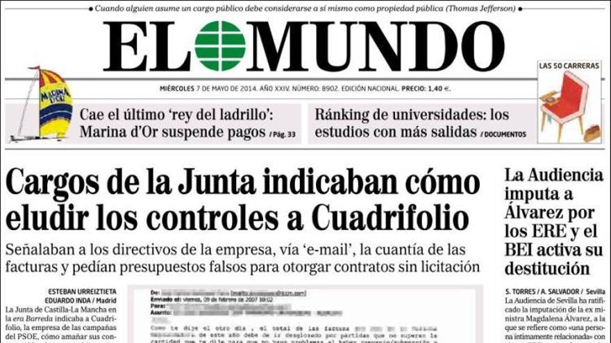 Portada de El Mundo / kiosko.net
