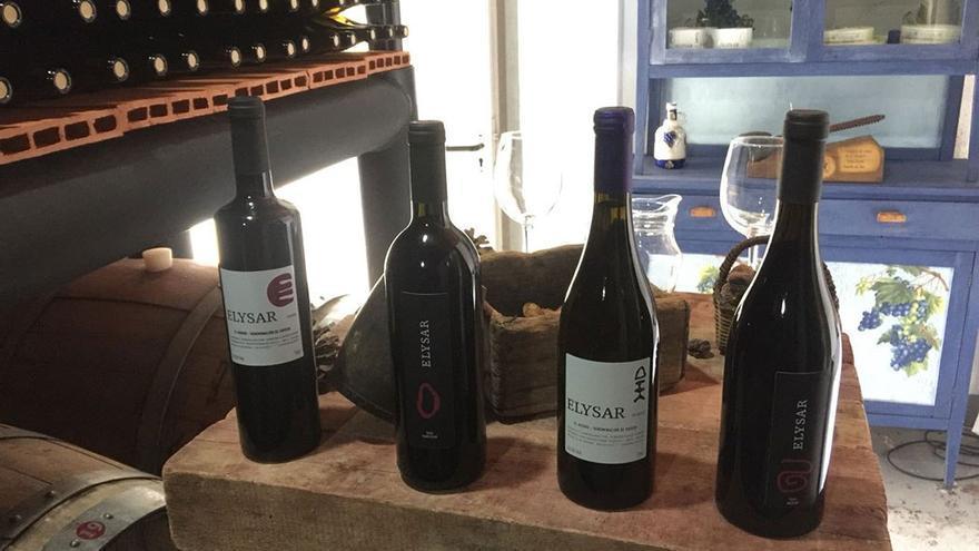 Ejemplares de vino Elysar