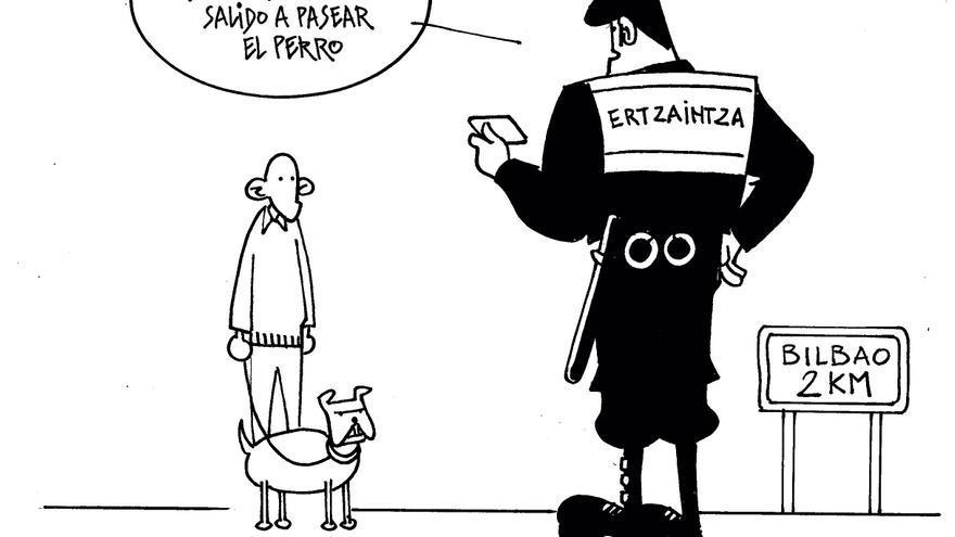 Pasear al perro durante el confinamiento