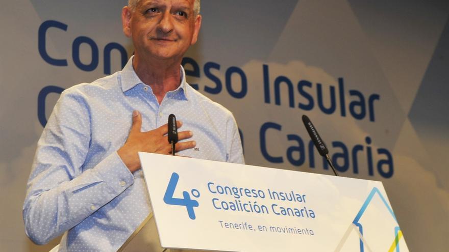 Francisco Linares, este domingo en Magma, en el lugar de celebración del IV Congreso de CC en Tenerife