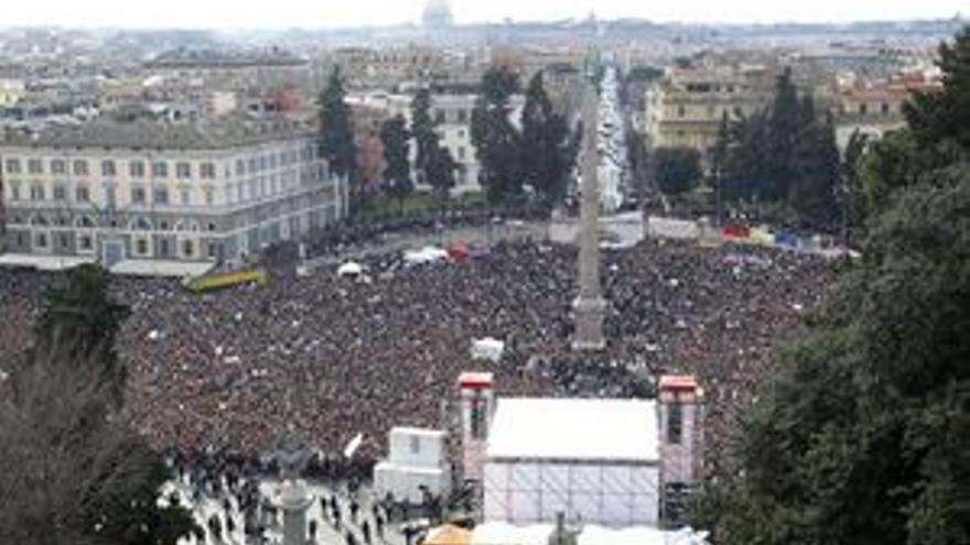 Un millón de personas marchan contra Berlusconi