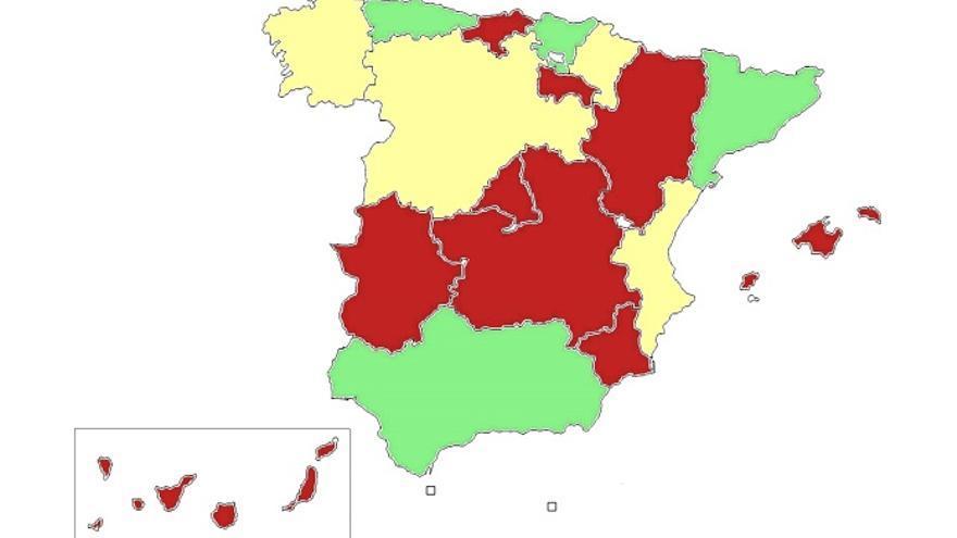 Mapa sobre la aplicación de la reforma sanitaria en España. Médicos del Mundo
