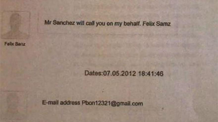 Supuestos mensajes de Félix Sanz Roldán desde su número de teléfono al de Corinna Larsen