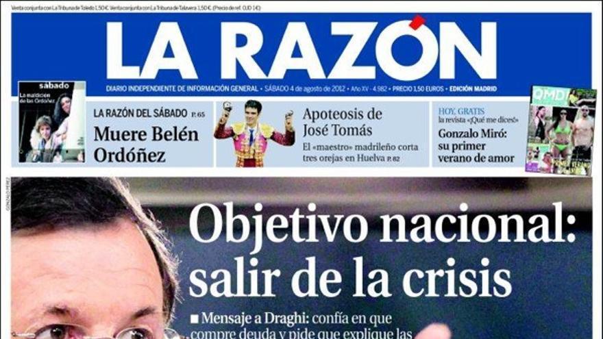 De las portadas del día (4/08/2012) #11