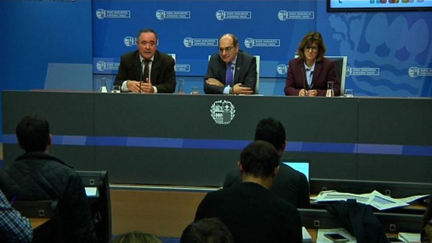 El consejero de Salud, Jon Darpón, este miércoles en la sede del Gobierno vasco