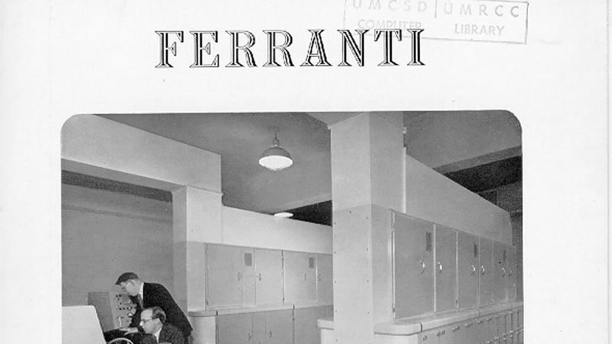 Un folleto del Ferranti Mark 1