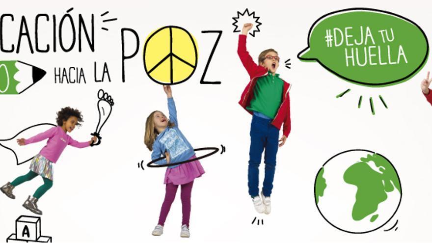 Cartel de la Coalición Española de la Campaña Mundial por la Educación (CME).