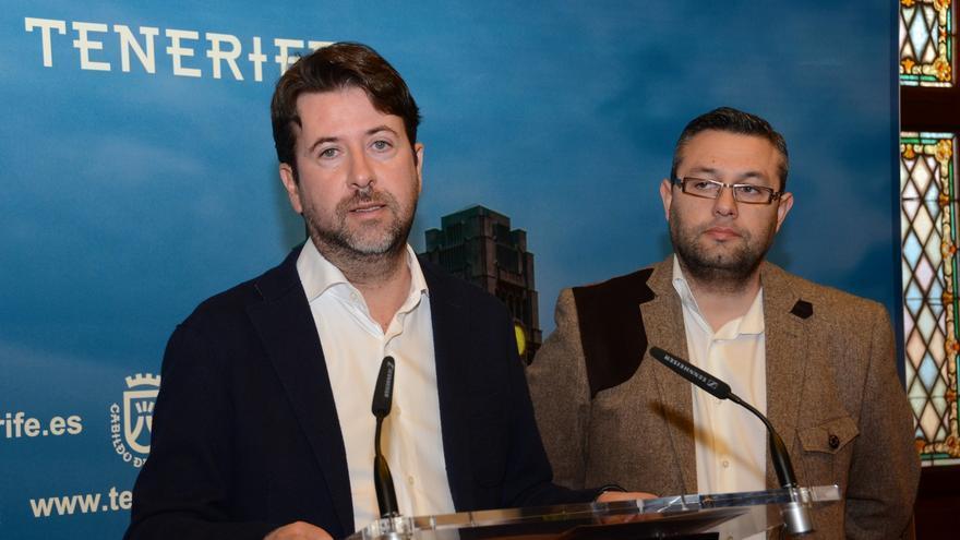 Carlos Alonso y Miguel Ángel Pérez en la presentación de la convocatoria de este año.