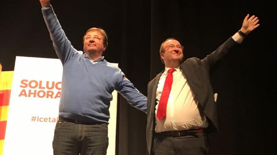 Fernández Vara, apoyando a Iceta en Cataluña / PSOE