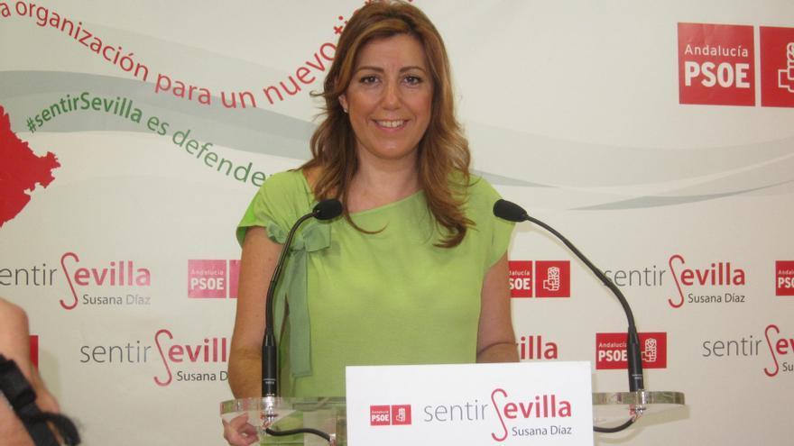 """Susana Díaz (PSOE) cree que el PP """"tiene que aclarar cuanto antes"""" el caso Bárcenas """"por el bien de la democracia"""""""