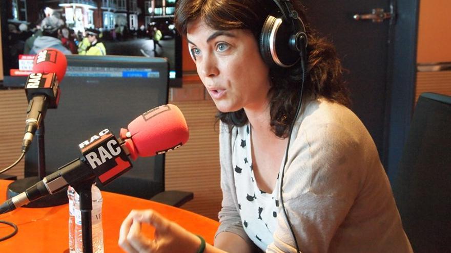 Samanta Villar durante una entrevista en Rac1