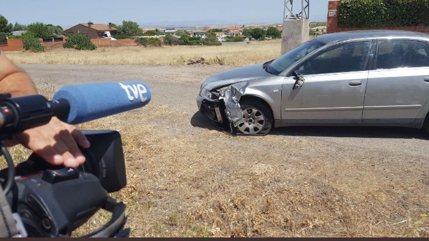 Vehículo abandonado por el presunto homicida. FOTO: RTVE