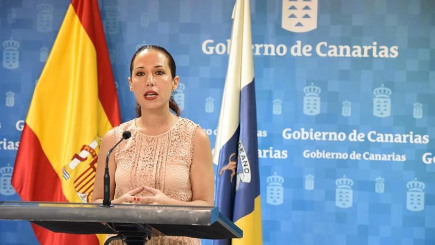 Patricia Hernández, vicepresidenta del Gobierno de Canarias. (CARLOS GONZÁLEZ)