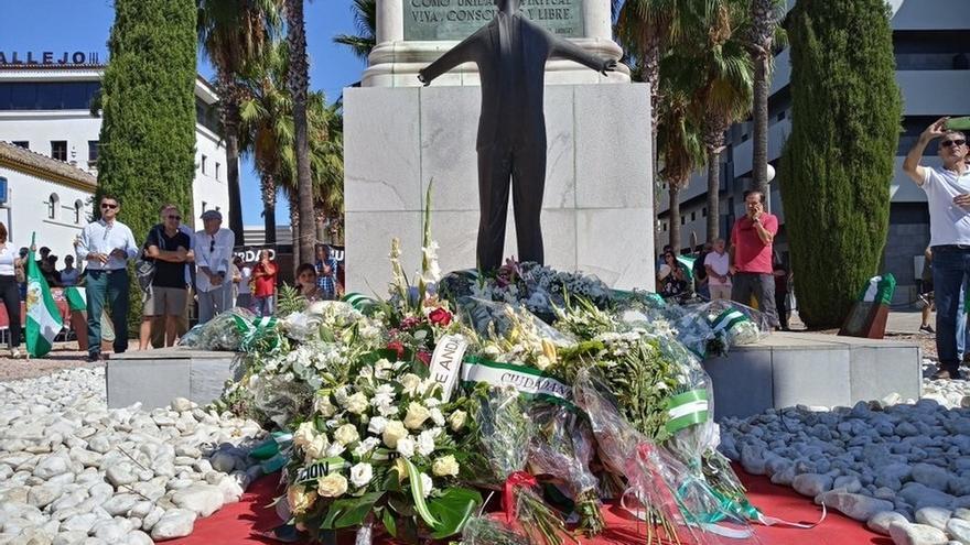 PP, Cs, PSOE y Adelante Andalucía defienden, en el homenaje a Blas Infante, la vigencia de sus principios y su legado