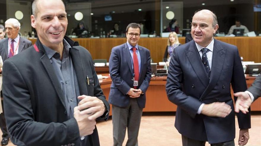 El ministro de Economía griego y Luis de Guindos.