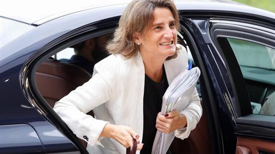 La minstra Teresa Ribera al llegar a su primer Consejo de Ministros Europeos de Energía.