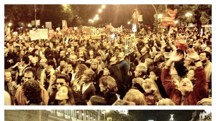 Atocha, Neptuno, Cibeles, Alcalá... hasta Colón. Lleno en la manifestación de Madrid