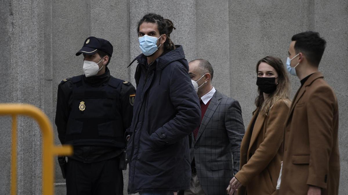 Alberto Rodríguez, a su llegada al Supremo