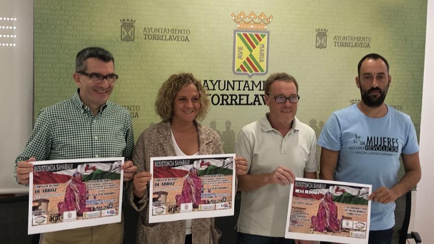 Los concejales del municipio junto al presidente de Alouda, Ángel Oria