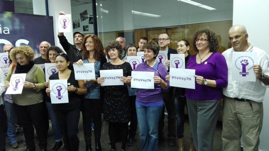 Las mujeres de Podemos se suman a la marcha contra las violencias machistas del 7-N