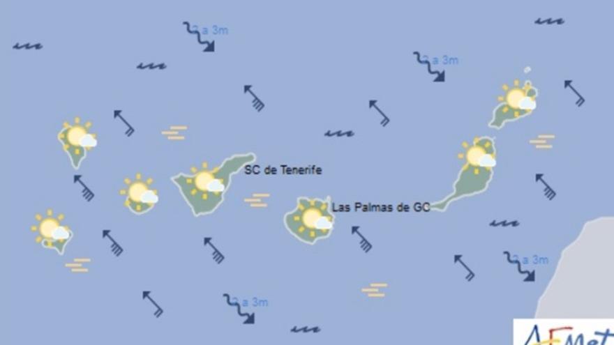 Mapa de la previsión meteorológica para el viernes 30 de diciembre